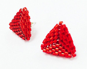 Triangle Beadwork Stud Earrings - Tuesday 3rd & 10th October 2017 6pm - 7pm